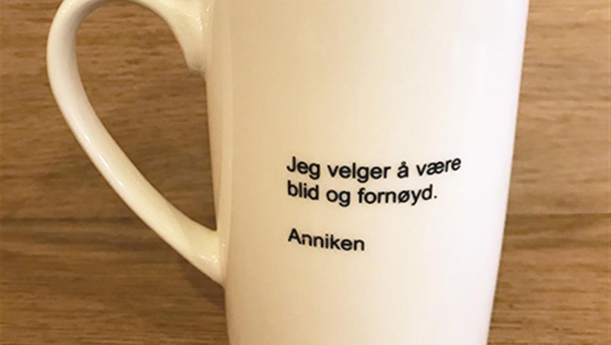 Bidra.no - Signert kaffekrus av barista Anniken