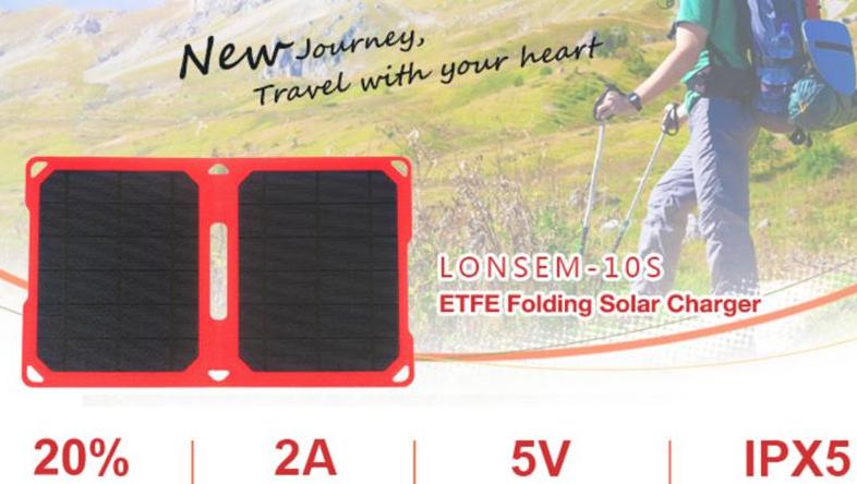 Bidra.no - Solarbug- 10w solcelle lader til mobiltelefon