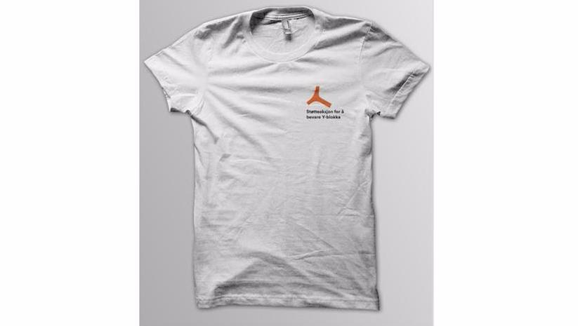 Bidra.no - Y-skjorte hvit (T-skjorte)