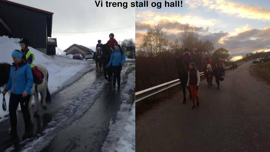 Bidra.no - Ride-/fleirbrukshall og stall på Hovden i 2018!
