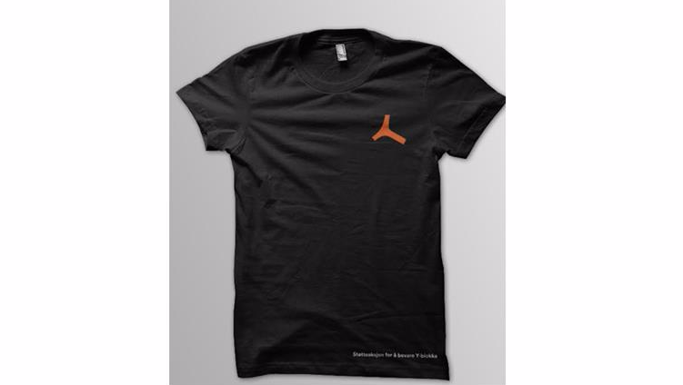 Bidra.no - Y-skjorte sort (T-skjorte)