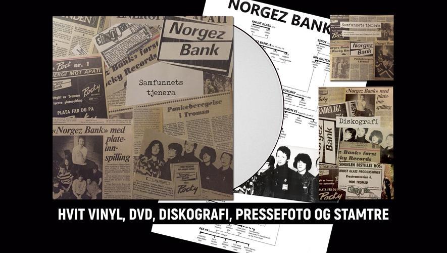 Bidra.no - Norgez Bank – limitert LP (hvit + svart vinyl) m/vedlegg (hentes Tromsø)